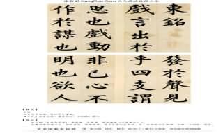 《節錄張載東銘冊》書法真跡(楷書)【明朝·姜立綱】