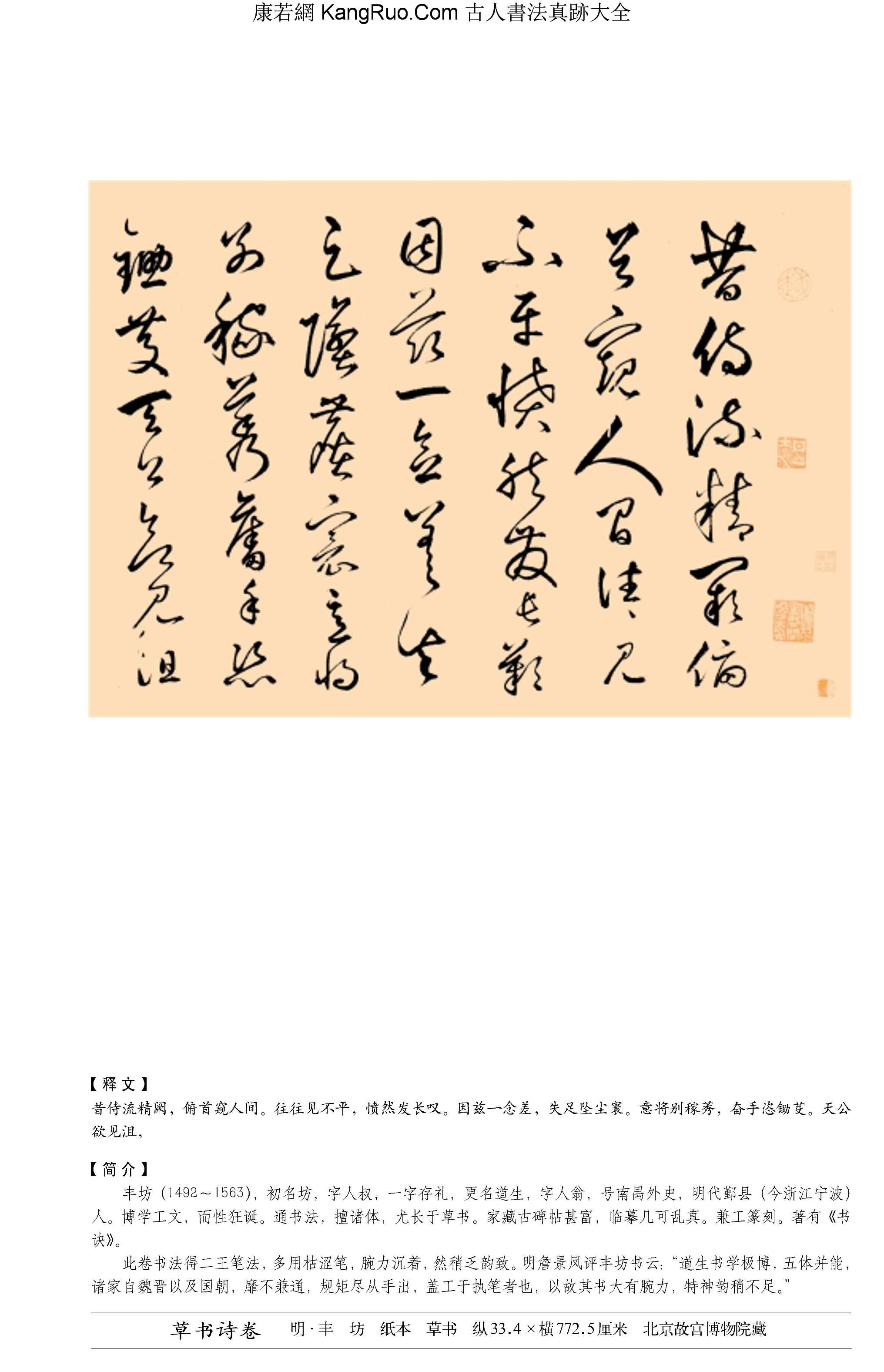 《草書詩卷》書法真跡【明朝·豐坊】_00191